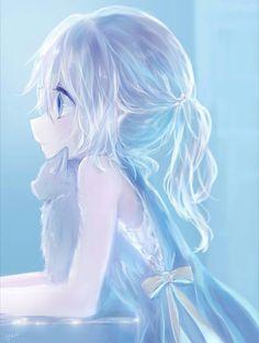 anime little girl with white hair Anime Neko, Ange Anime, Manga Kawaii, Loli Kawaii, Manga Anime Girl, Cute Anime Chibi, Anime Girl Drawings, Anime Oc, Anime Artwork
