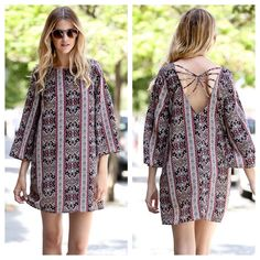 Check out this adorable back! {Rust Print Back Strappy Dress $30}  Comment below with PayPal to purchase and ship or comment for 24 hour hold  #repurposeboutiqe#loverepurpose#hipandtrendy#shoprepurpose#boutiquelove#style#trendy#fall#rust#strappy