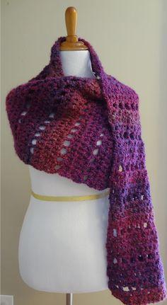 Fiber Flux: Free Crochet Pattern...Mulberry Shawl!