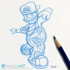 B-Boy Mario (rough sketch)  Because I love the 80s, hiphop, breaking, videogames and oldschool.   #mario #mariobros #supermario #supermariobros #gamer #videogames #hiphop #breaking #bboy #oldschool #ramosart #sketch #art #drawing #80s #fresh #style #airbrushed #graphitti #overalls #shelltoes #urban