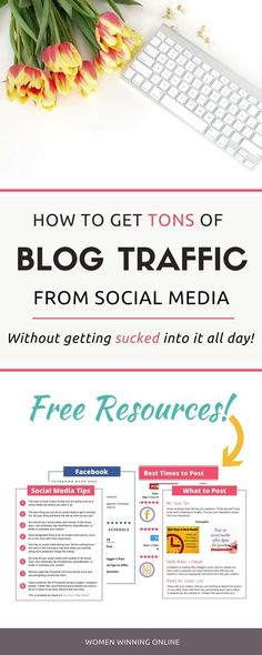 Are you getting blog traffic from Facebook, Pinterest, & Instagram? Or do you find yourself sucked into social media all day with no results for your blog? I can help you!