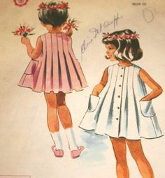 Cut Pattern Child Size 5 McCalls 6871 Vtg 1960s #HelenLee Designer Dress Pleats #McCalls #BoxPleats