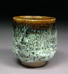Tenmoku and Nuka Glazed Smallish Intimate Yunomi Tea by shyrabbit, $38.00