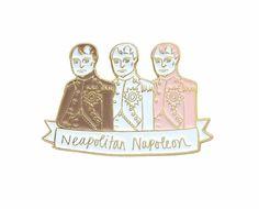 Neapolitan Napoleon enamel lapel pin