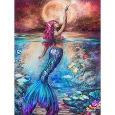 Mermaid Artwork, Mermaid Drawings, Art Drawings, Mermaid Paintings, Realistic Mermaid Drawing, Mermaid Tail Drawing, Magical Paintings, Spiritual Paintings, Fantasy Mermaids