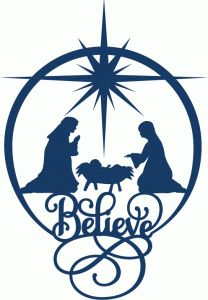 View Design #69871: believe nativity circle