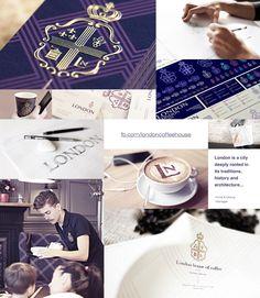 コーヒーハウスロンドン - Behanceのブランドアイデンティティ