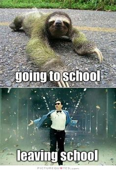 Going to school. Leaving school. Picture Quotes.