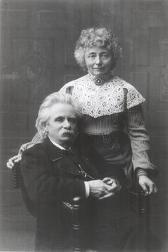 Edvard Grieg and his wife, Nina. Identification of him as Norway's greatest composer would draw no dissent. Best known for the Peer Gynt Suites and the Piano Concerto in A Minor.
