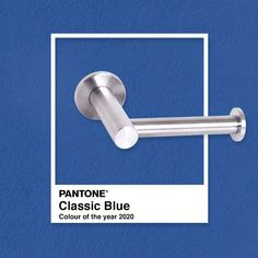 Described as calming and timeless, Pantone's Colour of the Year for 2020 is, drumroll… Classic Blue.  Elegant and sophisticated, the hue makes for a beautiful bathroom feature wall.    #Pantone #ClassicBlue #18TenAccessories