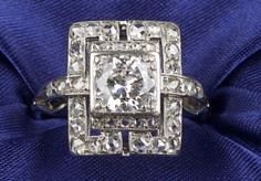 Art Deco Platinum and Diamond Ring | Sale Number 2277, Lot Number 521 | Skinner Auctioneers