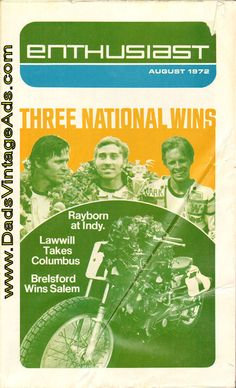 1972 August Harley-Davidson Enthusiast Magazine Back-Issue