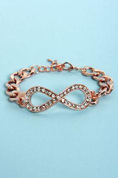 Designer Inspired Rose Gold Stackable Rope Bracelet with CZ Flowers