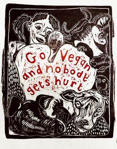 Go Vegan by Sue Coe