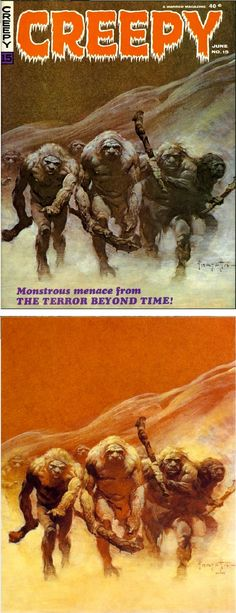 FRANK FRAZETTA - Creepy #15 - The Terror Beyond Time - June 1967 Warren Publishing