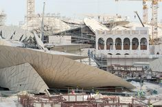 Chantier du National Museum of Qatar - architecte Jean Nouvel. Doha, Qatar, mai 2015.Martin Argyroglo Photographe