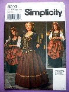 Women's Renaissance Dresses Costumes Misses' by PurplePlaidPenguin, $10.00