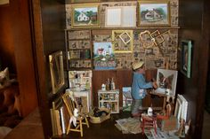 Marquis Miniatures - Rustic Realism: Welcome to my Miniature Art Studio