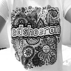 Ed Sheeran Floral Doodle Tee