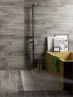 Porcelain stoneware wall/floor tiles with #wood effect LARIX by Ariana  Ceramica Italiana #interiors #bathroom