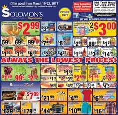 Shop Solomon's, Always The Lowest Prices !!