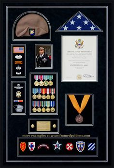 Gallery – Custom Military Shadow Box Examples Gallery – Custom Military Shadow Box Examples - Framed Guidons More Source by Flag Display Case, Coin Display, Display Cases, Military Retirement Parties, Retirement Gifts, Retirement Ideas, Military Awards, Military Army, Military Honors