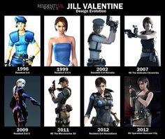 Jill Valentine ~ Through the Years