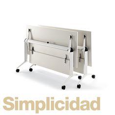 Sera tan simple adaptar tu mobiliario a tus necesidades, con las mesas #Trama que ofrecen un práctico diseño plegable sin complicaciones en sus mecanismos. Mesas