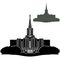 silhouette design store lds temples jordan river