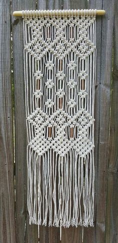 Macrame wall hanging with copper beads by Jonatis on Etsy