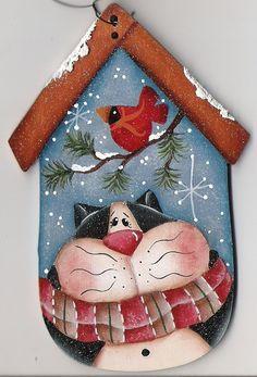 Kitty Birdhouse Ornament