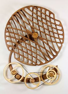 Kinetic Sculpture by David C. Roy - All Sculptures | Wood That Works | Kinetic Art - Labyrinth