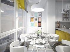 Фотографии интерьеров квартир и домов: Дизайн кухни с выходом на балкон
