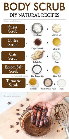 Body Scrub Recipe, Sugar Scrub Recipe, Diy Body Scrub, Diy Scrub, Coffee Body Scrub Diy, Body Scrub Sugar, Exfoliating Body Scrub Diy, Sugar Scrub Homemade, Homemade Skin Care