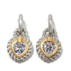 "Emma Skye Jewelry 2-Tone Rope Textured ""Heart"" Earrings"