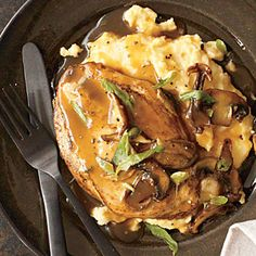 Saucy Chicken Marsala from Cooking Light. Made for dinner last night and served over garlic mashed potatoes. Delicious!