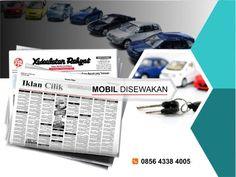 Pasang iklan baris Rental Mobil di koran Kedaulatan Rakyat Jogja, Kirim Materi Iklan ke 085643384005 (SMS/WA)