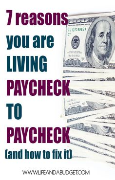 "To stop living paycheck to paycheck, you must understand the ""WHY"" of the matter. Then you can defeat living paycheck to paycheck. Read on to learn the why and how! via @lifeandabudget"