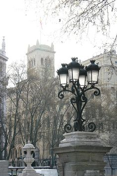 Farolas en Madrid Beautiful Streets, Beautiful Places, All About Spain, Madrid, Old Lanterns, Street Lights, Le Palais, Street Lamp, Vacation Places