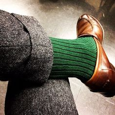 Still feeling the festive spirit? Pair your #TuxedoShoes with green socks!