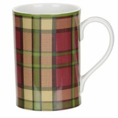 The Glen Lodge Dinnerware Collection by Spode celebrates the Great British countryside and is inspired by the Scottish Highlands. The designs of the items in this collection feature, alternatively, pheasants and stags with an assortment of differen Dish Storage, Red Mug, Tartan, Dinnerware, Home Goods, Tea Cups, Porcelain, Mugs, Crystals