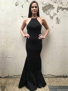 65f91e2cf1 Trumpet Mermaid Scoop Neck Jersey Floor-length Prom Dresses