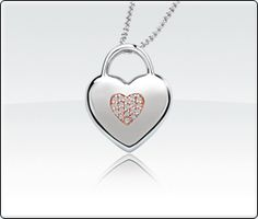 Diamond Heart Necklace, perfect gift for mom!