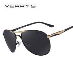 >> Click to Buy << MERRY'S Men Aluminum Polarized Sunglasses Classic Brand Sunglasses EMI Defending Coating Lens Driving Shades S'8712 #Affiliate