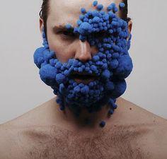 Blue - face - body art - Lucyandbart - Lucy McRae y Bart Hess, Grow On Art Bizarre, Weird Art, Lucy Mcrae, Bart Hess, Blue Waffle, Body Adornment, Body Modifications, Art Plastique, Face Art