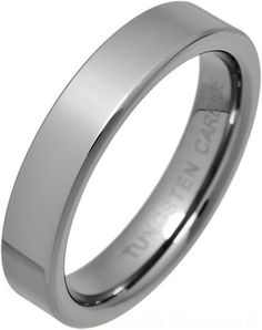 Ladies Tungsten Carbide 4mm Flat Ring