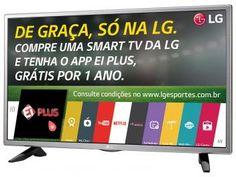 "Smart TV LED 32"" LG 32LH570B - Conversor Integrado 2 HDMI 1 USB Wi-Fi"