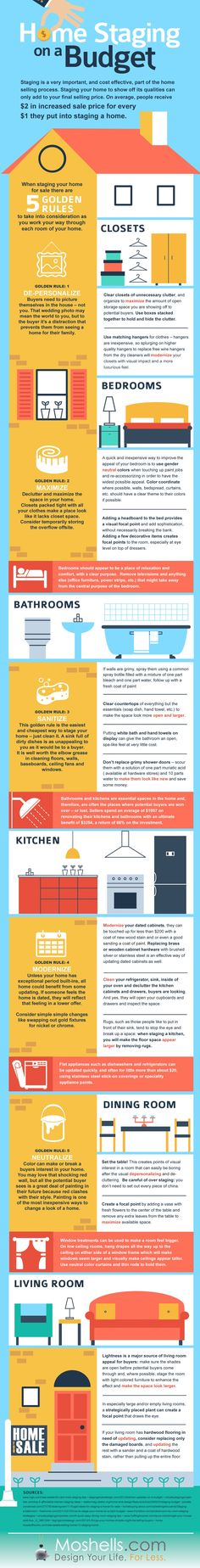 Home Staging on a Budget #Infographic via @inmannews