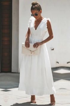 Basilica Cotton Maxi Dress - Another! Dress Outfits, Casual Dresses, Fashion Dresses, Maxi Dresses, Dress Ootd, Modest Fashion, Look Fashion, Fashion Show, Fashion Tips
