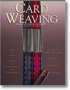 Card Weaving by Candace Crockett teaches you how to produce exquisitely patterned woven bands using simple cardboard squares. $24.95 #tablet_weaving